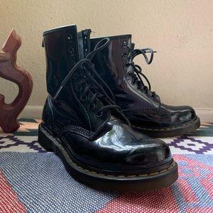 Dr.Martens Patent Lace Up Boots